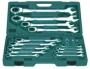 Набор ключей комбинированных трещоточных 8-32 мм 72 зуба 17 предметов фирмы JONNESWAY Артикул W45117S (48739)